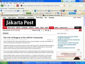 postingan di Jakarta post