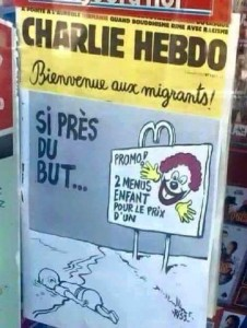 Charlie Hebdo Aylan first-drawing