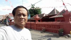 masjid merah panjunan selfie